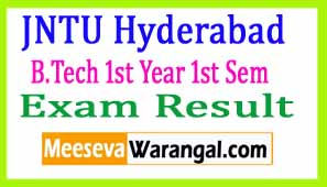 JNTU Hyderabad B.Tech 1st Year 1st Sem (R16) Regular 2016 Exam Results