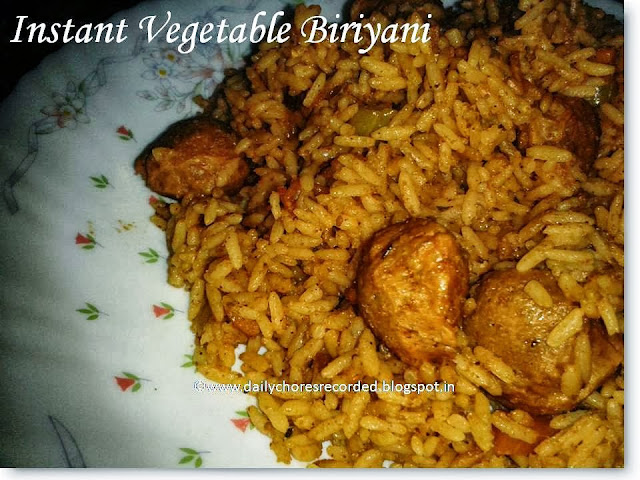 Instant Vegetable Biriyani
