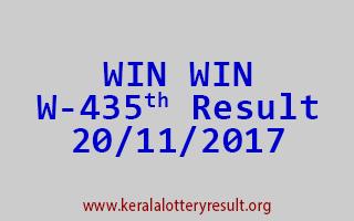 WIN WIN Lottery W 435 Results 20-11-2017