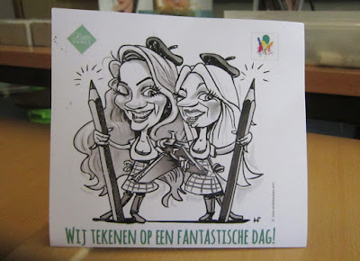 karikatuur tekening cartoon van Rotterdames Daphne en Iris door © Hugo Freutel