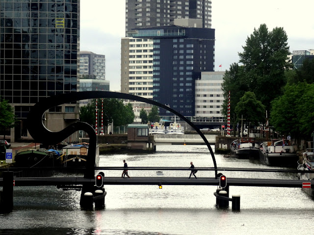 Pedestrian bridge Rotterdam, the Netherlands