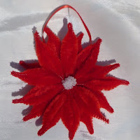 Poinsettia ornaments