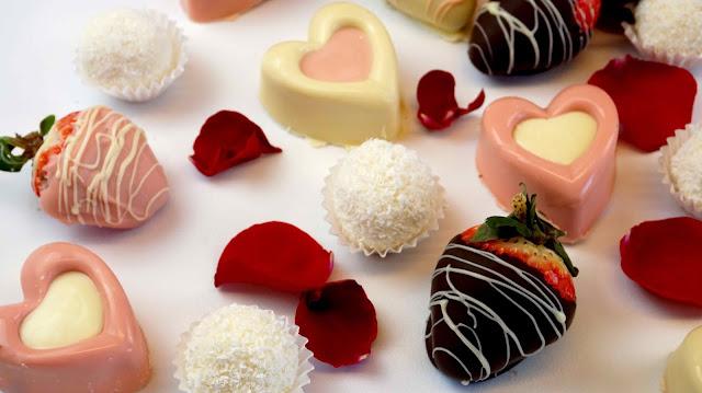 Bombones y dulces de san valentín