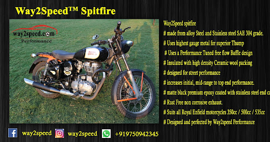 Way2Speed Spitfire Silencer For Royal Enfield