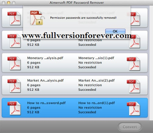 Amacsoft PDFPassword download free pdf file password remover full version