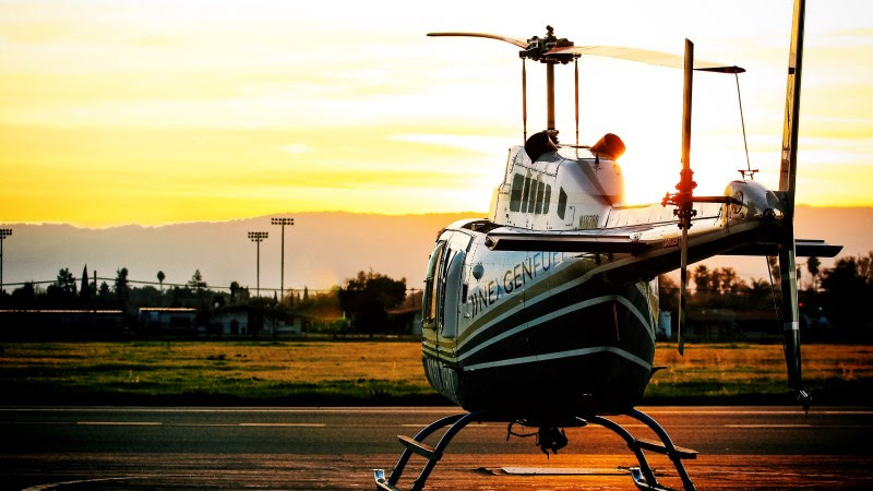 Helicopter on Reid-Hillview Airport