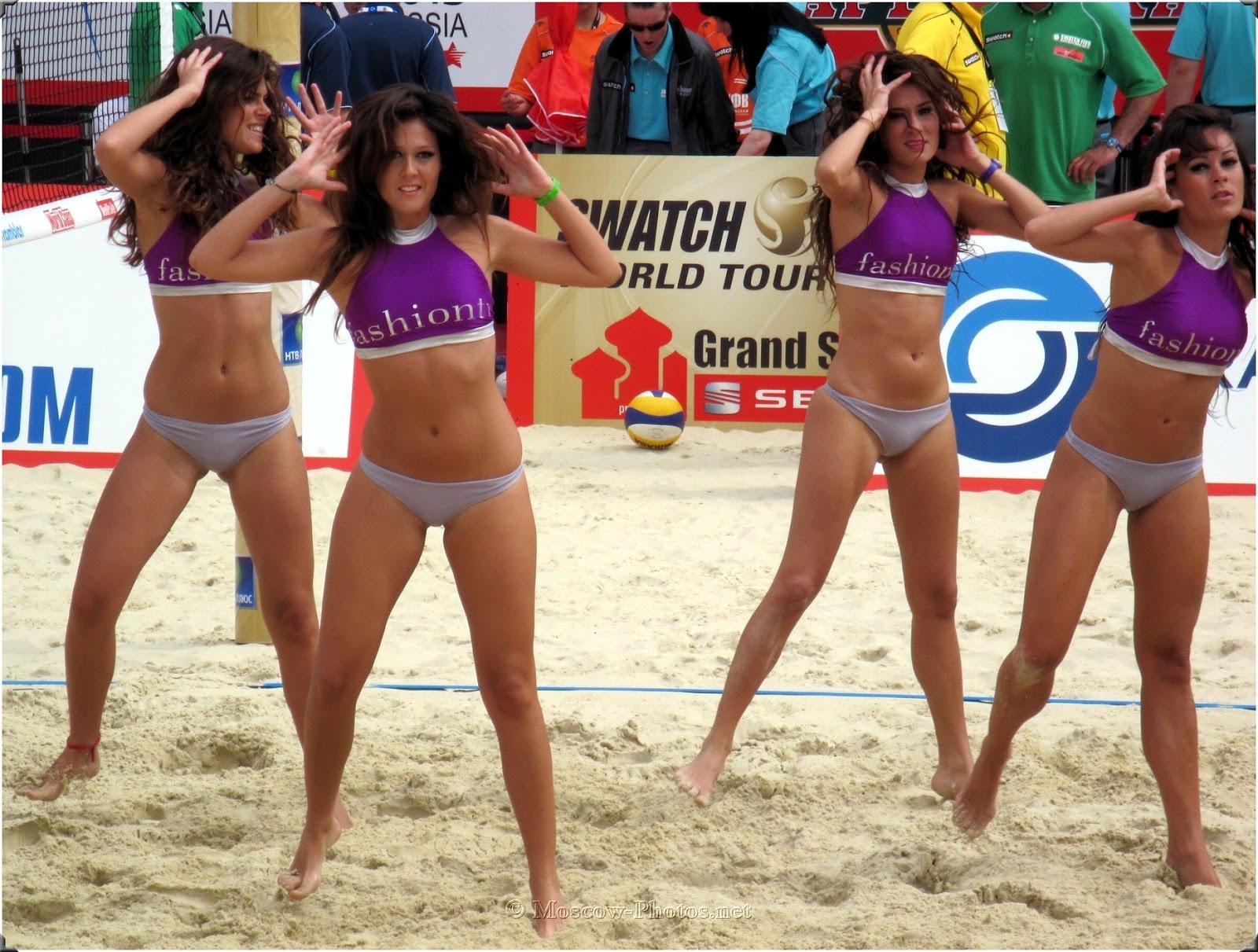 Beach Volley Cheerleaders in Moscow