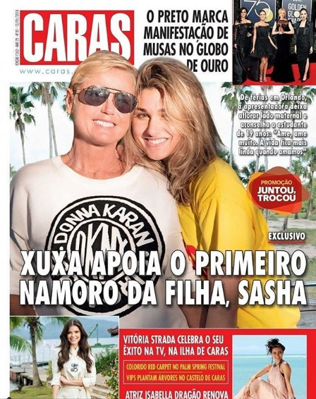 Xuxa e Sasha estampam a revista Caras dessa semana