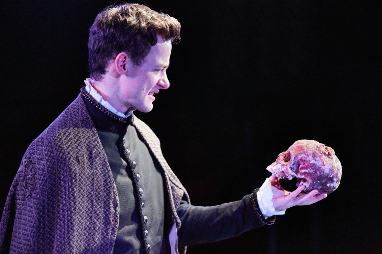 Alan Mahon as Hamlet Photo by Mark Douet
