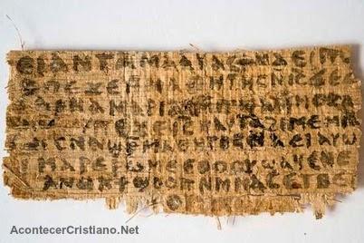 Papiro antiguo menciona a la esposa de Jesús