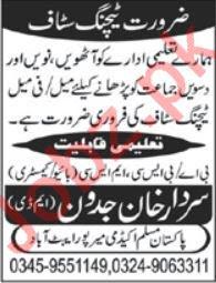 Pakistan Muslim Academy Mirpur Abbottabad Jobs 2019