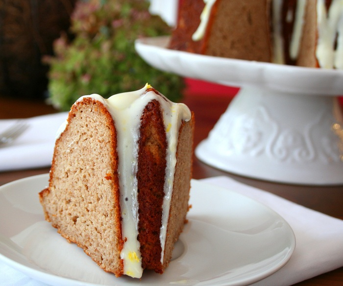 Low Carb Bundt Cake Recipes: Gingerbread Bundt Cake With Lemon Glaze (Low Carb And