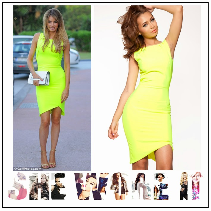 Asymmetric, Bodycon, Bright, Celeb Boutique, Chloe Sims, Crepe, Dress, Exposed Zip, Hem Detail, Lime Green, Neon, Pencil Dress,