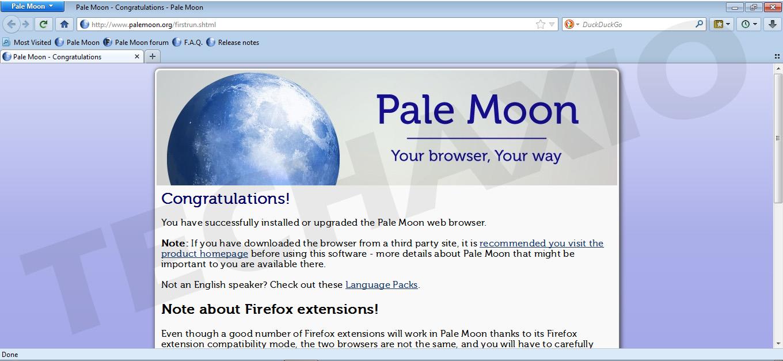Pale Moon Browser Screenshot