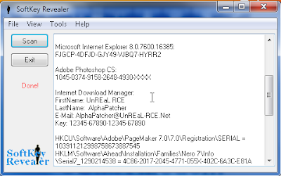 Cara mengetahui serial number, serial key, serial code program atau