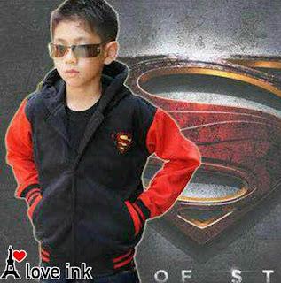 Jaket Anak Superman Black - Harga Saudara