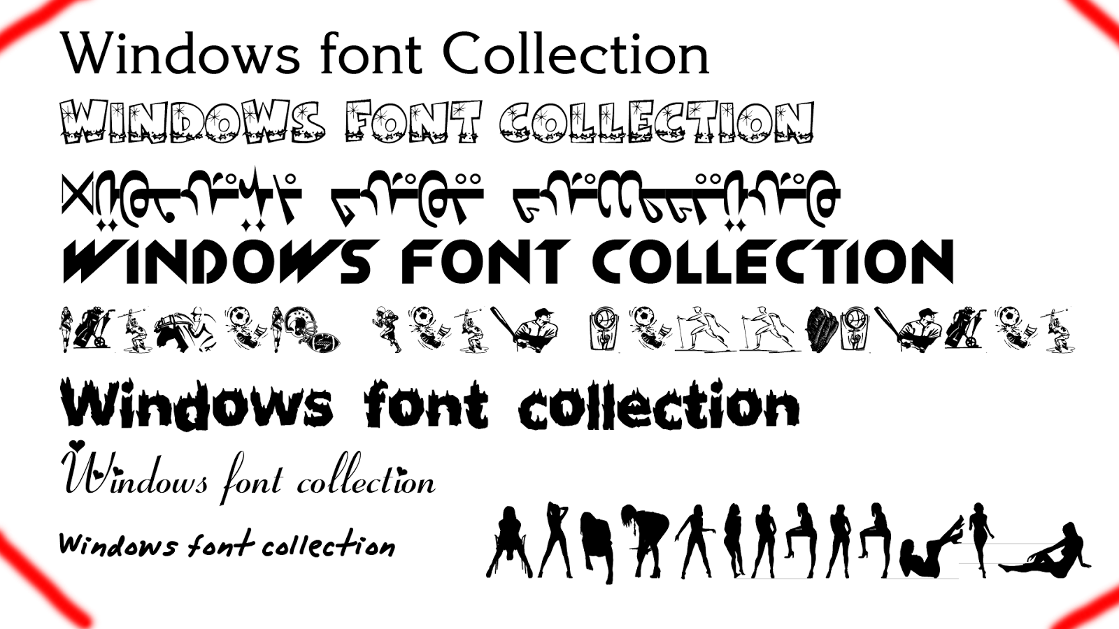Download Windows Font Collection v1 Download