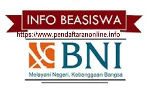 Pendaftaran Online Beasiswa BNI 2019 2020