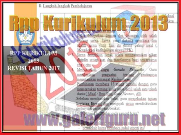 Download Contoh Rpp Kurikulum 2013 Revisi 2017 Format Terbaru