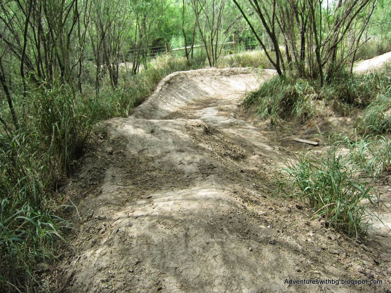 The pump track at mission trails