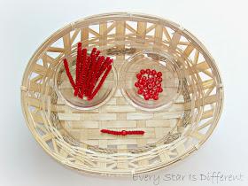 Making Montessori Red Bead Bars for Kids