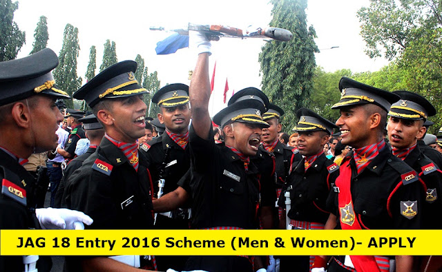 JAG 18 Entry 2016 Scheme (Men & Women) - APPLY NOW!!!!