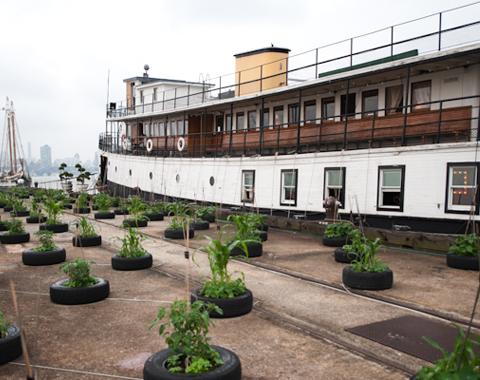 Ellis Island ferry houseboat