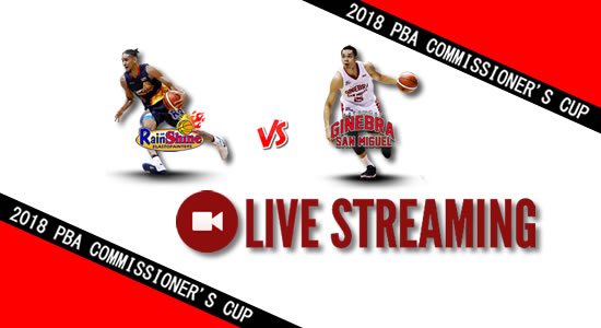 Livestream List: Rain or Shine vs Ginebra April 29, 2018 PBA Commissioner's Cup