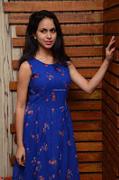 Pallavi Dora Actress in Sleeveless Blue Short dress at Prema Entha Madhuram Priyuraalu Antha Katinam teaser launch 013.jpg