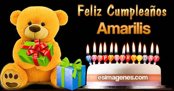 Feliz Cumpleaños Amarilis