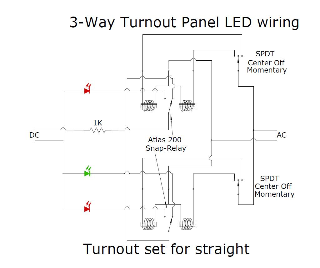 three way turnout with panel led s wiring question model. Black Bedroom Furniture Sets. Home Design Ideas