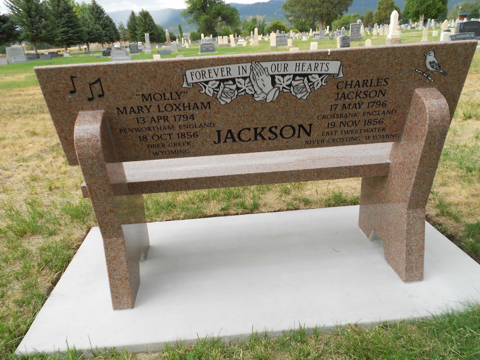 Mt  Pleasant Pioneer : Memorial Bench Placed at the Mt