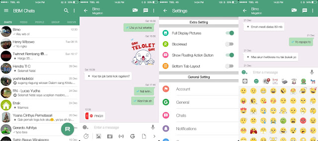 BBM MOD Whatsapp Flat v15 Based BBM 3.2.3.11
