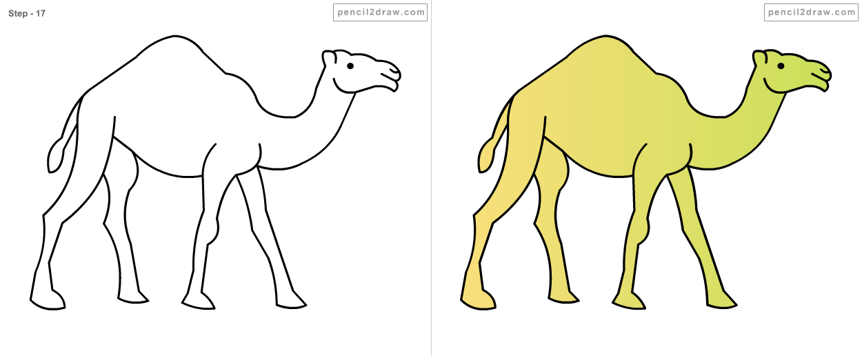 Fpencil: How to draw Cartoon camel step by step