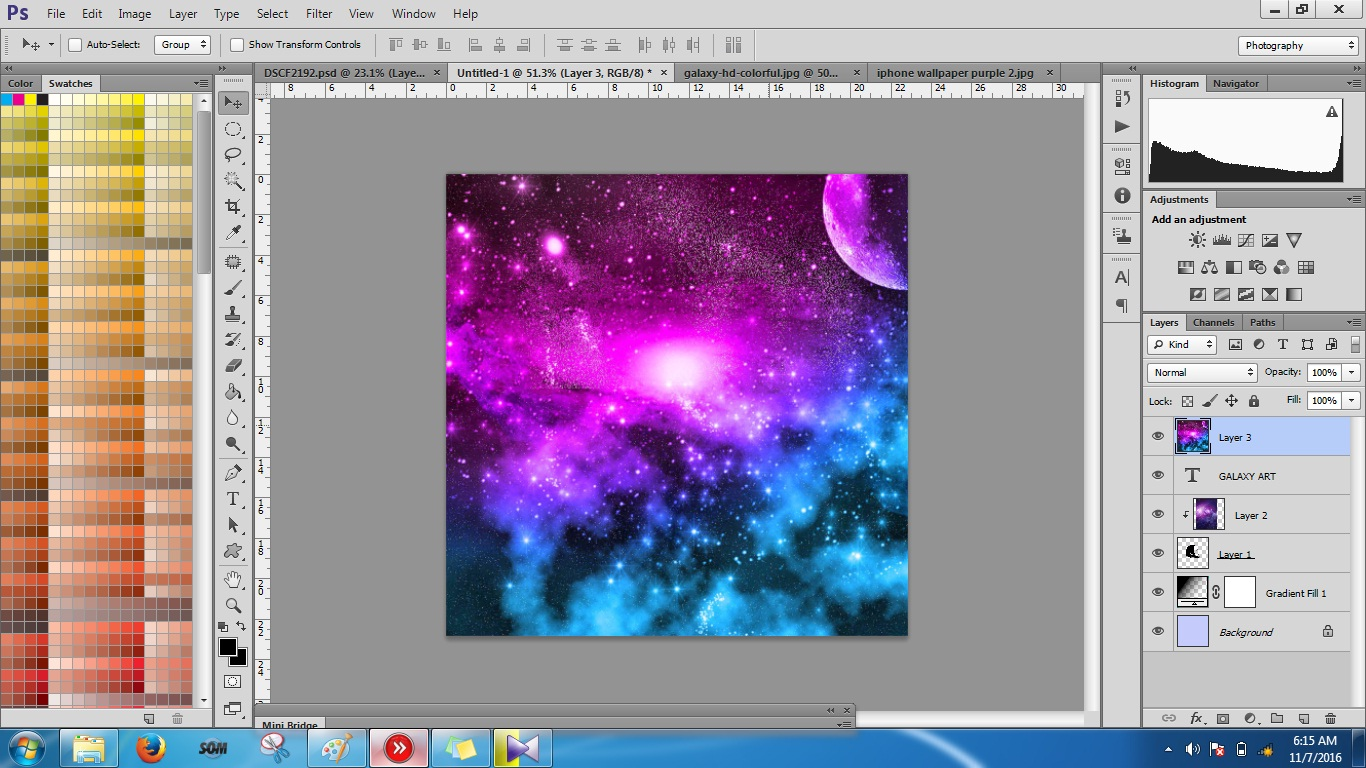 Cara Membuat Efek Galaxy Art keren  EDITOR PHOTO