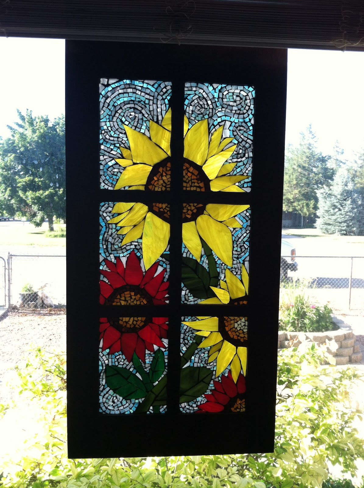 Pollyanna Reinvents Colored Glass Mosaics