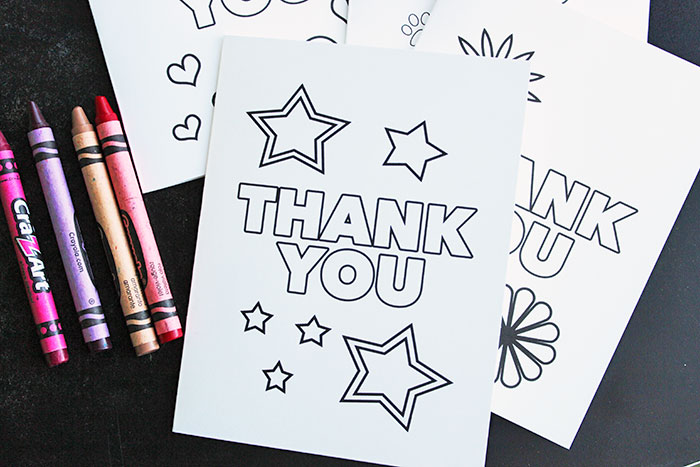 This is a picture of Gutsy Printable Thank You Cards for Kids