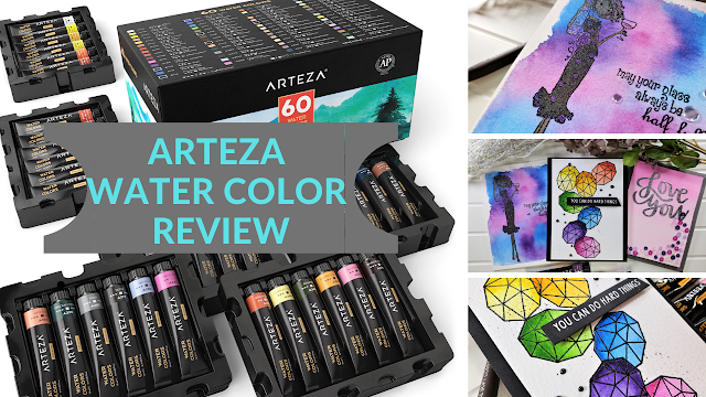 Arteza Water Color Tube Review and 3 Card Projects