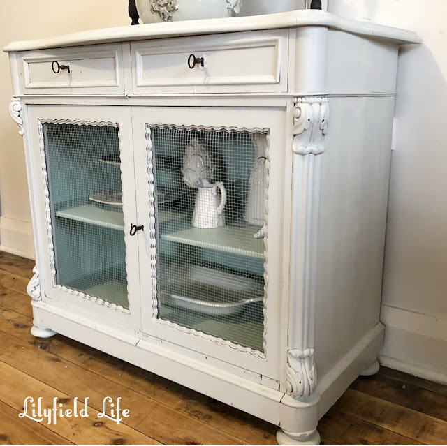lovely french cabinet by Lilyfield life and how to removed contact easily