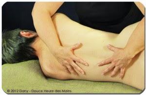 massage du dos sur le coté pas cher aube effet cooconing