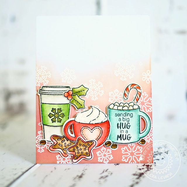 Sunny Studio Stamps: Mug Hugs Christmas Card by Lexa Levana.