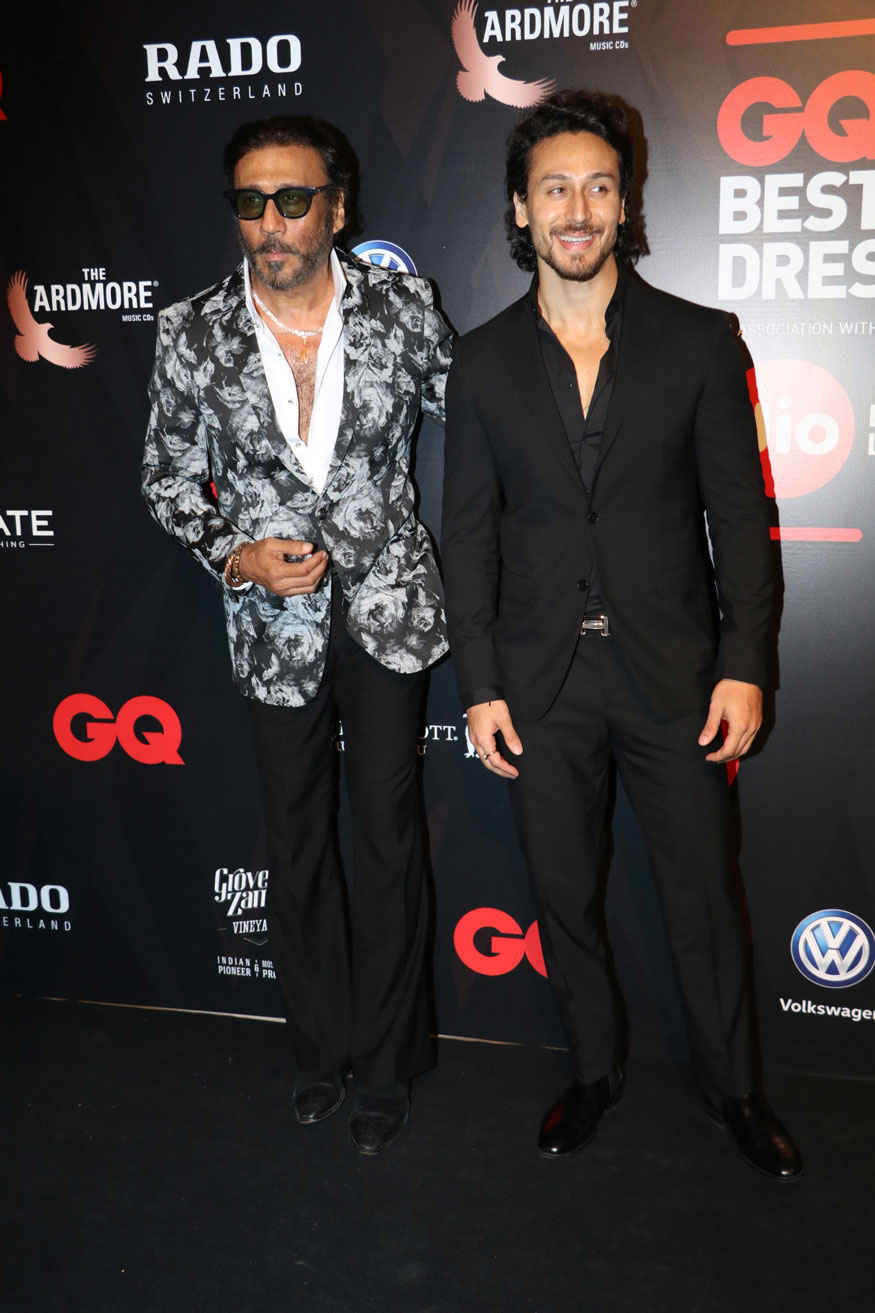 Jackie Shroff and Tiger Shroff Attends The GQ Best Dressed Awards Event at JW Marriott Hotel
