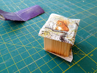 using mod podge to make wood blocks