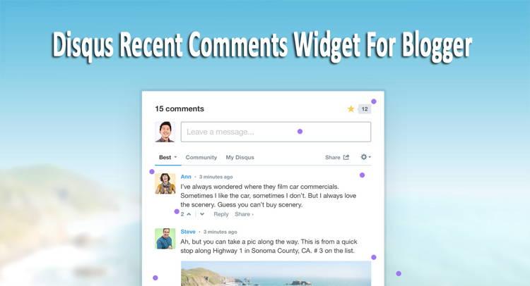 Disqus Recent Comments Widget For Blogger