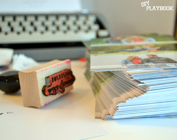 Stack of save the dates