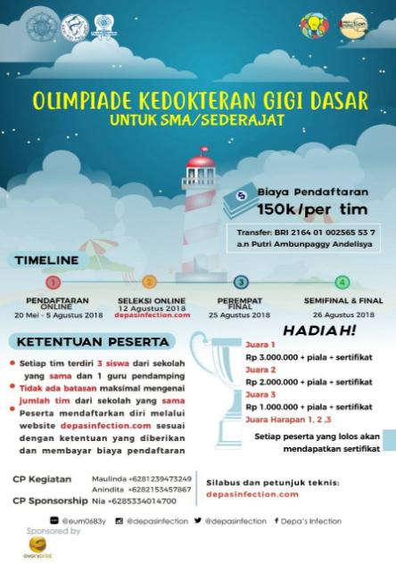 Olimpiade Kedokteran Gigi Depasinfection 2018 di UGM