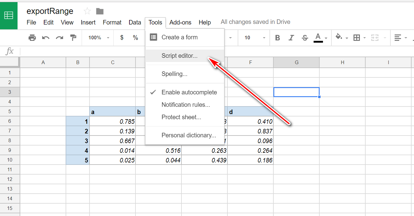 Export and Email Specific Range in Google Sheets in CSV,PDF
