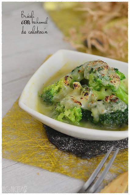Brócoli con bechamel de calabacín