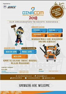 Lomba Dinus Application Competition (DINACOM) 2018 by Univ. Dian Nuswantoro