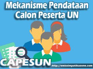 Mekanisme Pendataan Calon Peserta UN (CAPESUN)